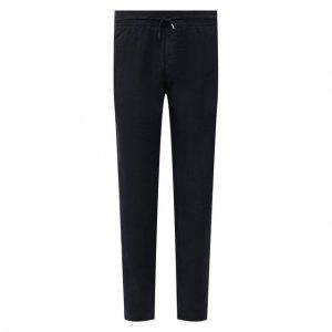 Льняные брюки Altea. Цвет: синий