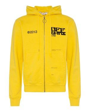 Олимпийка OMBE001S21FLE0031910 l желтый+черный Off-White. Цвет: желтый+черный
