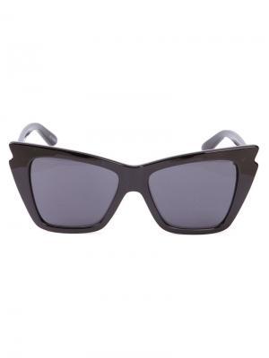 Солнцезащитные очки с заостренными концами Le Specs. Цвет: черный