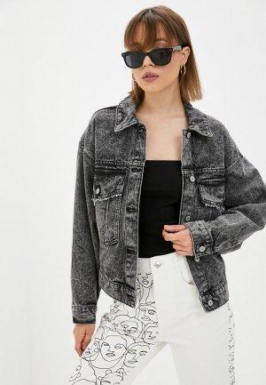 Куртка джинсовая Pimkie. Цвет: серый