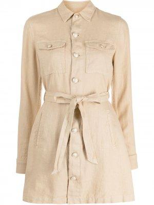 LAgence приталенная куртка Samantha L'Agence. Цвет: нейтральные цвета