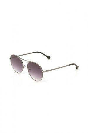 Очки солнцезащитные Enni Marco. Цвет: серый металлик