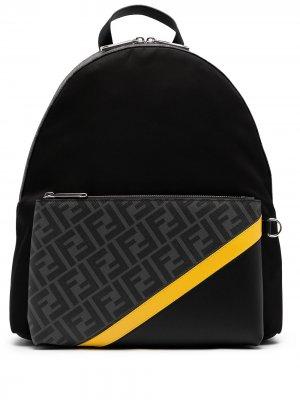 Рюкзак с логотипом FF Fendi. Цвет: черный