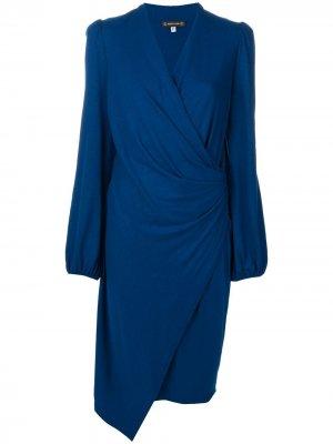 Платье миди со сборками Plein Sud. Цвет: синий
