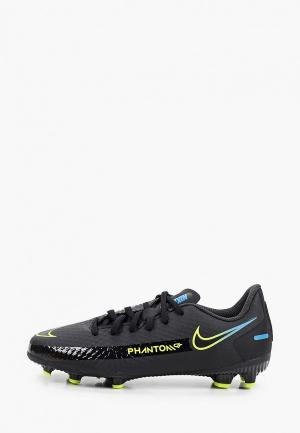 Бутсы Nike JR PHANTOM GT ACADEMY FG/MG. Цвет: черный
