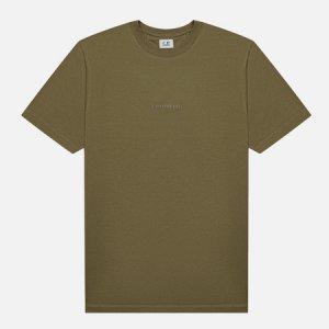 Мужская футболка Jersey Compact Print C.P. Company. Цвет: зелёный