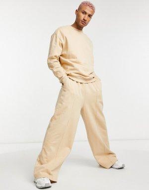 Спортивный костюм с oversized-свитшотом и oversized-джоггерами широкими штанинами -Нейтральный ASOS DESIGN