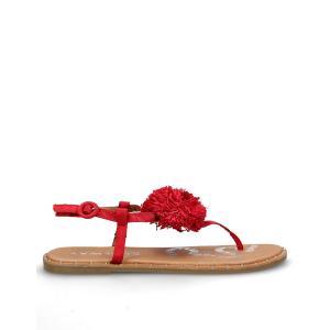 Босоножки на плоском каблуке Pompa COOLWAY. Цвет: красный