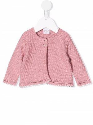 Embroidered knit cardigan Paz Rodriguez. Цвет: розовый