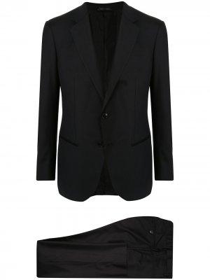 Строгий костюм-двойка Giorgio Armani. Цвет: черный
