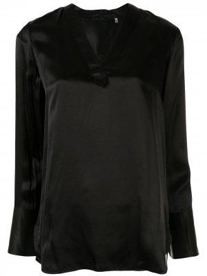 Длинная блузка-туника Blaze Elie Tahari. Цвет: черный