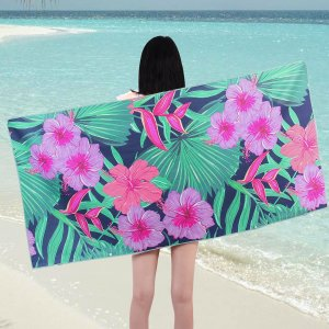 Многофункциональное полотенце с цветочным принтом SHEIN. Цвет: многоцветный