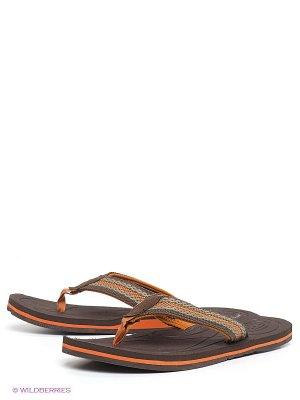 Пантолеты Keen. Цвет: темно-коричневый, оранжевый, серо-коричневый