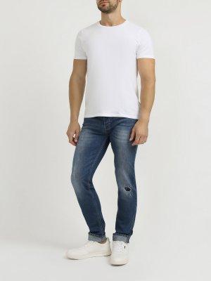 Рваные джинсы 6 P.M.. Цвет: siniy