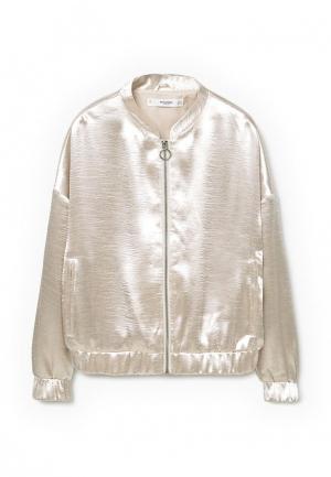 Куртка Mango - GLOSS. Цвет: золотой
