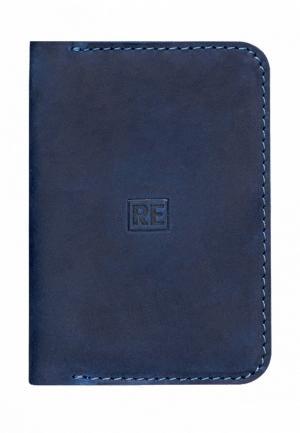 Обложка для паспорта Reconds. Цвет: синий