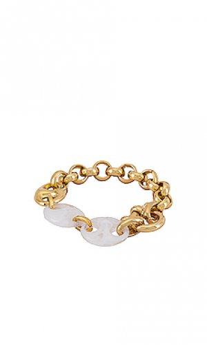 Браслет marin joolz by Martha Calvo. Цвет: металлический золотой