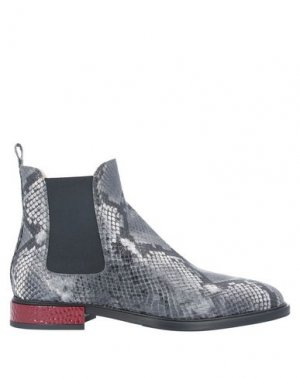 Полусапоги и высокие ботинки ALBERTO GOZZI. Цвет: серый