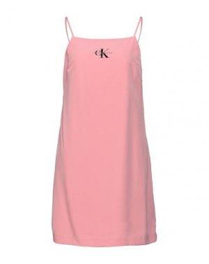 Короткое платье CALVIN KLEIN JEANS. Цвет: розовый