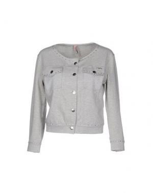 Куртка MET JEANS. Цвет: серый