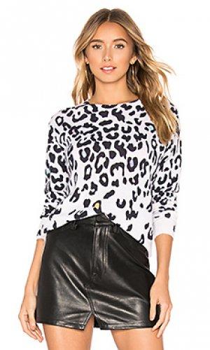 Свитер с круглой горловиной leopard Autumn Cashmere. Цвет: белый