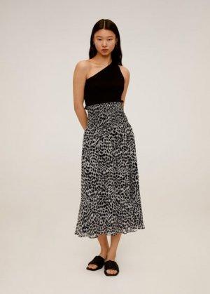 Миди-юбка леопард - Irene Mango. Цвет: черный