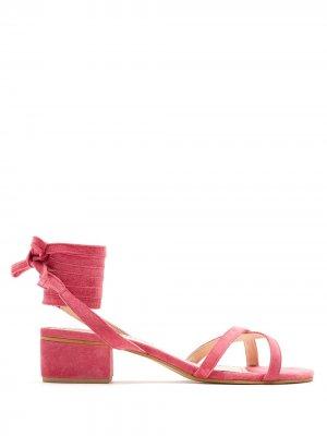 Босоножки на каблуке Eva. Цвет: розовый