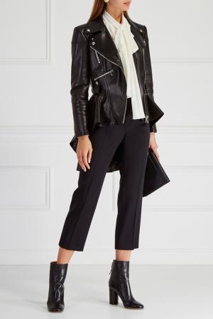 Кожаная куртка Alexander McQueen. Цвет: черный
