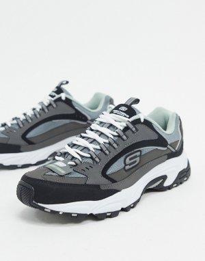 Серые кроссовки -Серый Skechers