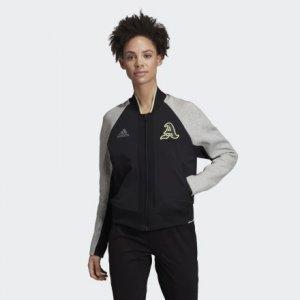 Куртка-бомбер VRCT New York Athletics adidas. Цвет: черный