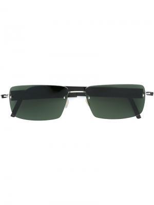 Солнцезащитные очки в квадратной оправе Lindberg. Цвет: коричневый