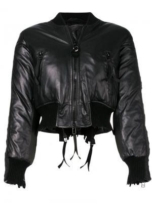 Укороченная куртка-бомбер Diesel. Цвет: черный