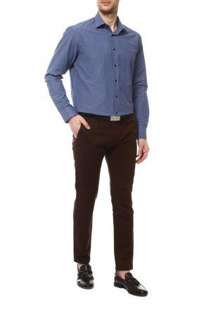 Рубашка Karflorens. Цвет: темно-голубой, синий