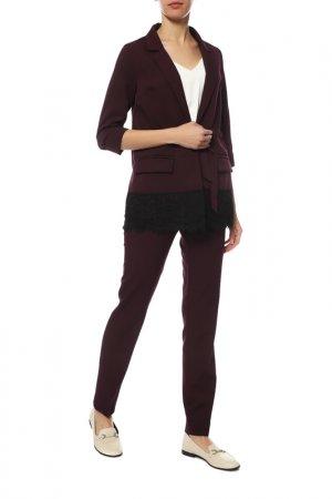 Костюм: жакет, брюки AVEMOD. Цвет: фиолетовый