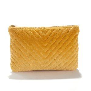 Сумка-клатч La Redoute. Цвет: желтый
