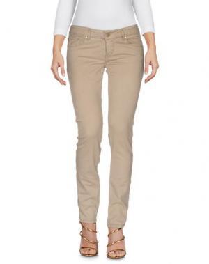 Джинсовые брюки MAISON CLOCHARD. Цвет: бежевый