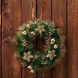Венок новогодний d-20 см Зимнее волшебство