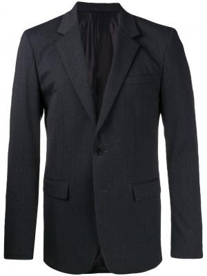 Однобортный костюмный пиджак Wooyoungmi. Цвет: серый