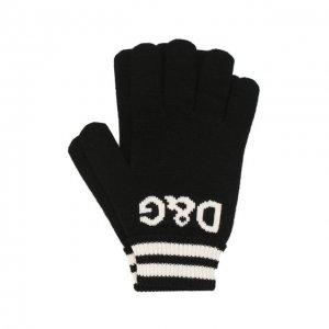 Кашемировые перчатки Dolce & Gabbana. Цвет: чёрный