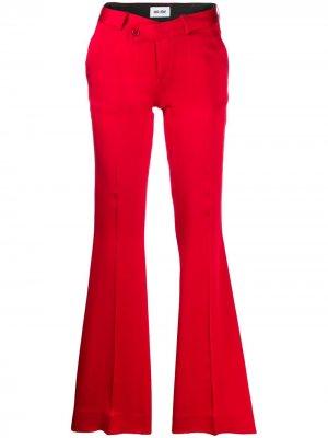 Расклешенные брюки строгого кроя Each X Other. Цвет: красный