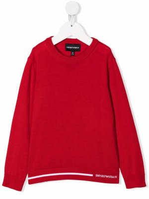 Contrasting stripe jumper Emporio Armani Kids. Цвет: красный