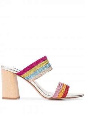 Туфли на блочном каблуке Alice+Olivia. Цвет: разноцветный