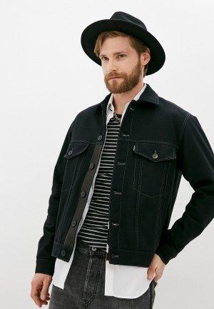 Куртка джинсовая The Kooples BLACK. Цвет: черный