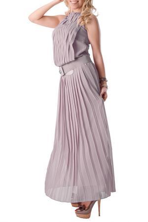 Платье Bovona. Цвет: светло-серый
