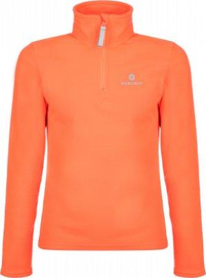 Джемпер флисовый для девочек , размер 128 Nordway. Цвет: красный