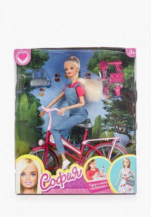 Кукла Карапуз София - велосипедная прогулка. Цвет: разноцветный