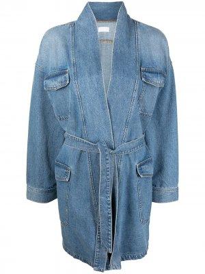 Джинсовая куртка с поясом Boyish Jeans. Цвет: синий