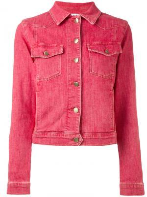Джинсовая куртка Frame Denim. Цвет: красный