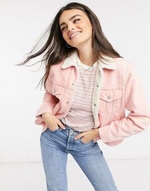 Розовая джинсовая куртка экс-бойфренда Levis-Розовый Levi's