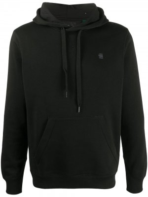 Embroidered-logo hoodie G-Star RAW. Цвет: черный